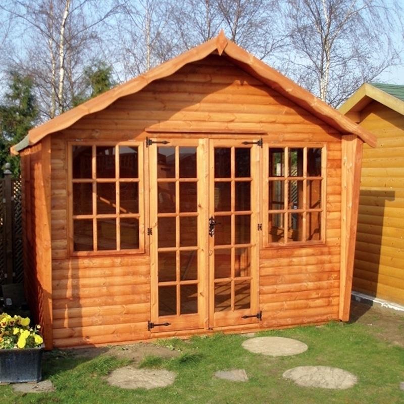 Kensington summerhouse penrallt garden centre for Garden shed 12x10
