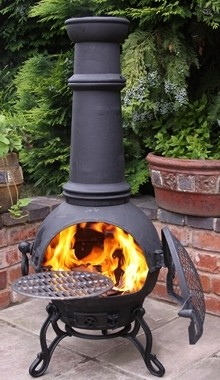 Toledo Chimenea Large Black