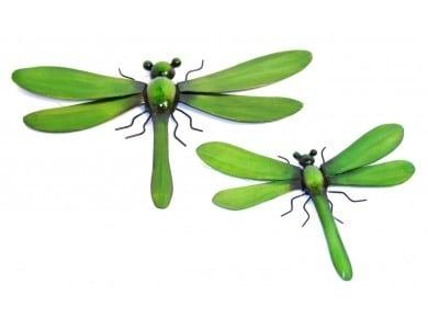 Dragonflies Green Set of 2