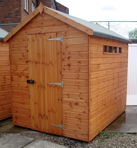 Security apex shed penrallt garden centre for Garden shed security