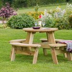 Zest Katie Round Picnic Table