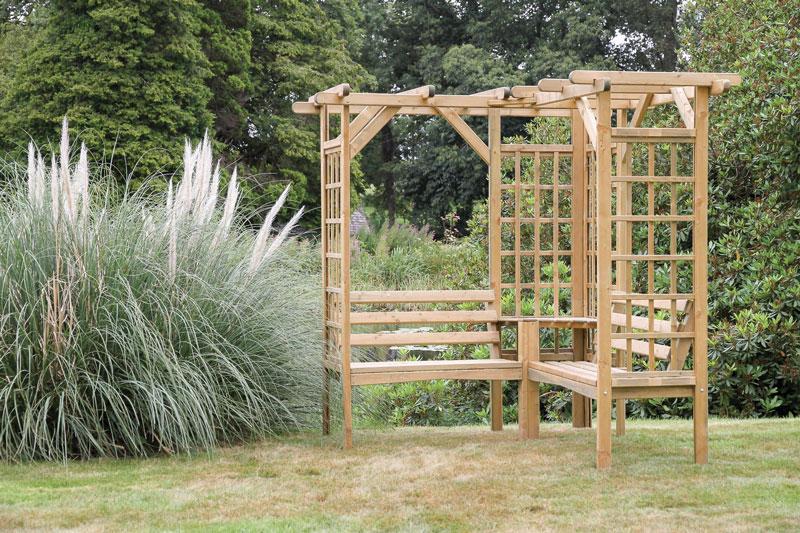 Zest Winchester Pergola Seat - Penrallt Garden Centre