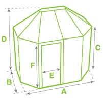 Alton Summerhouse Dimensions