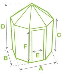 Alton Summerhouse Dimensions