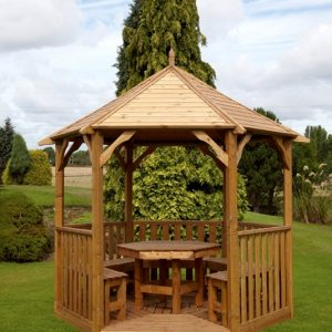 Buckingham Gazebo + Furniture
