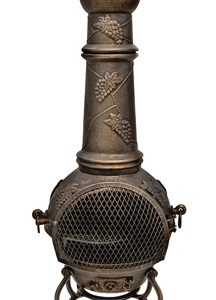 Toledo Grapes Chimenea Large Bronze