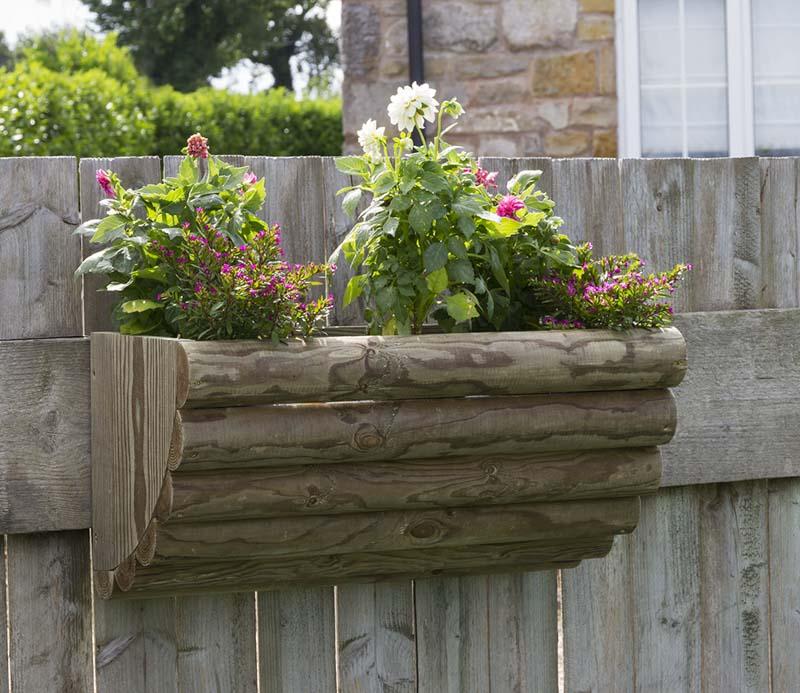 Zest Bristol Rustic Wall Planter