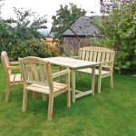 Zest Caroline, table bench and 2 chairs set