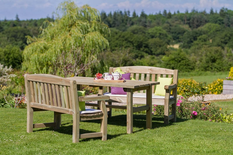 Zest Emily Table and 2 bench set