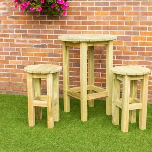 Bahama 2 X Stool And Round Table Set