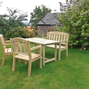 Caroline Table Bench & Chair Set