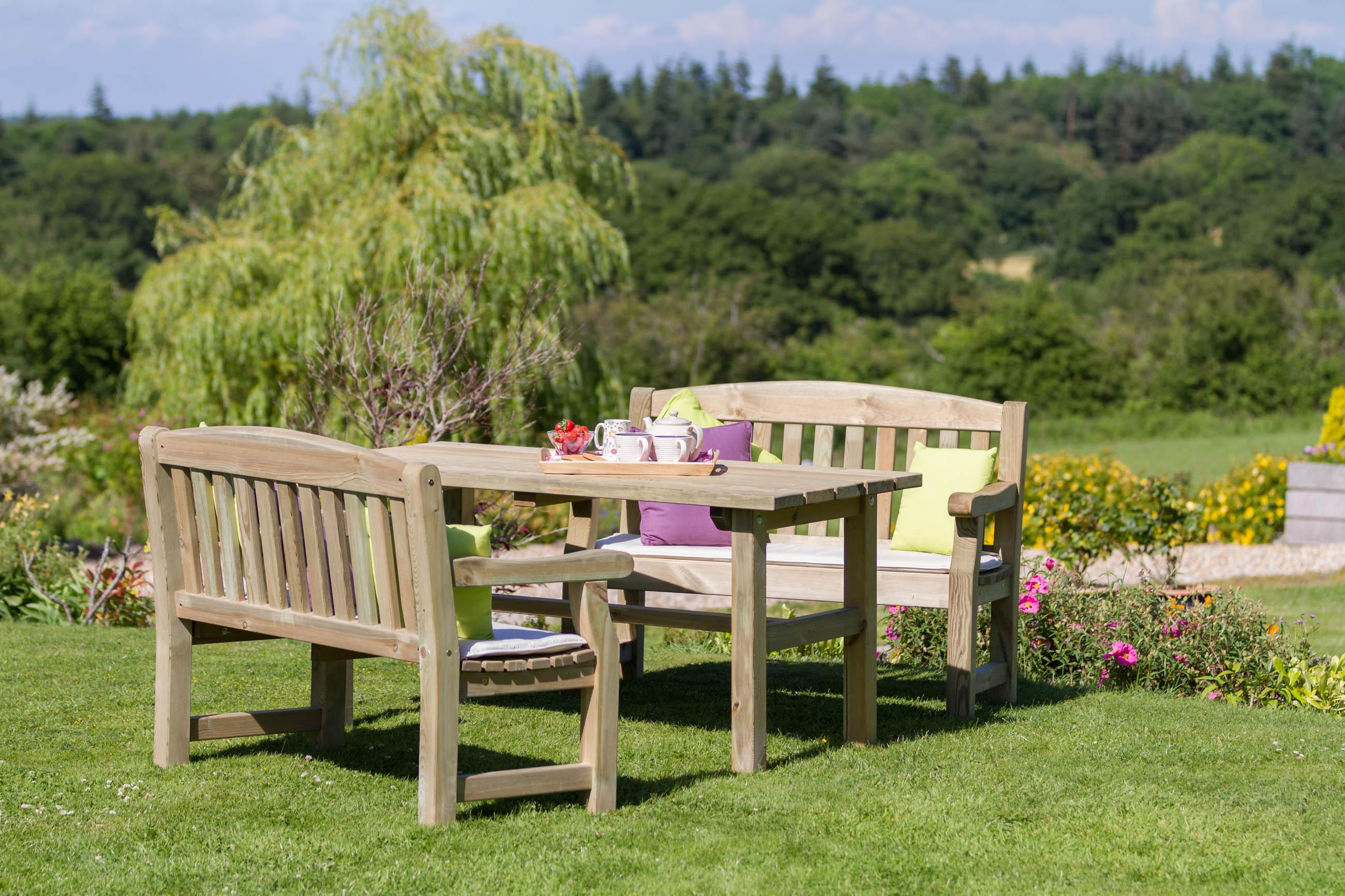 Emily Table u0026 Bench Set & Emily Table u0026 Bench Set - Penrallt Garden Centre