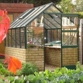 6′3″ Wide Featured Dwarf Wall Elite Greenhouse