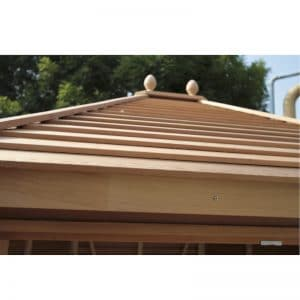 Alton Summerhouse Cedar Slatted Roof
