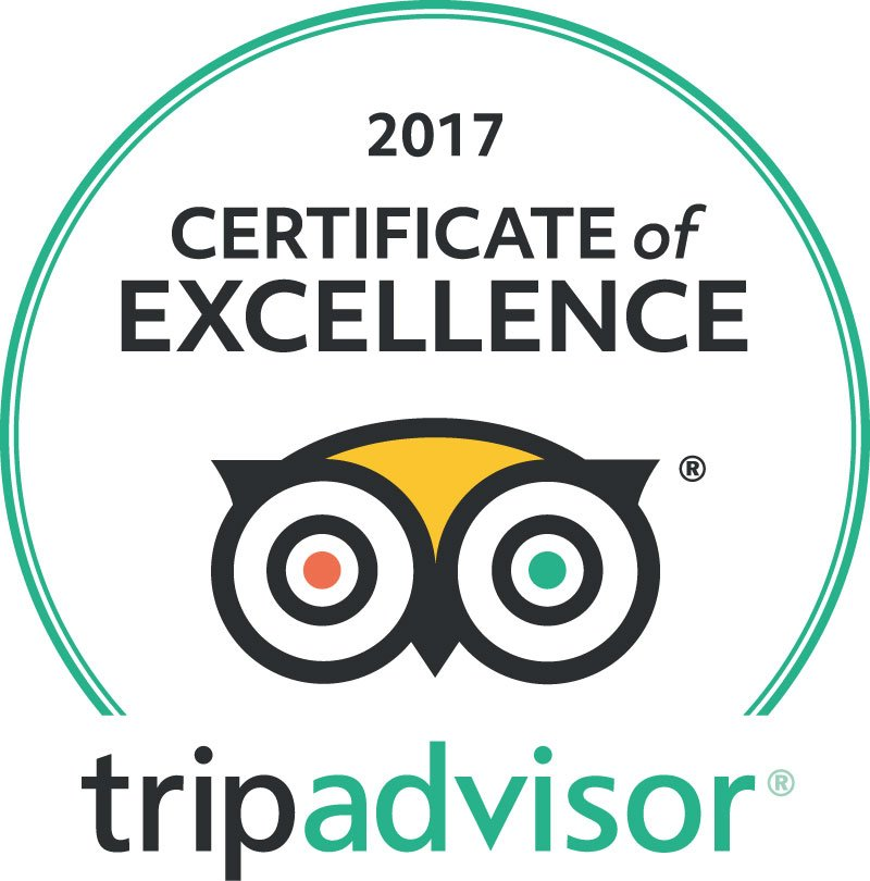 2017 Certificate Of Excellence From TripAdvisor